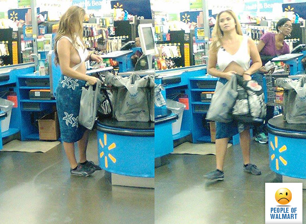 People being naughty at walmart