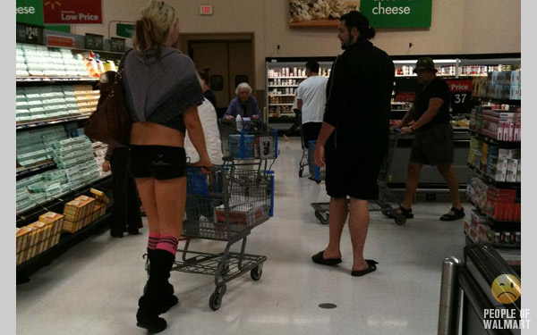 Hotties of walmart, frilly panties nude